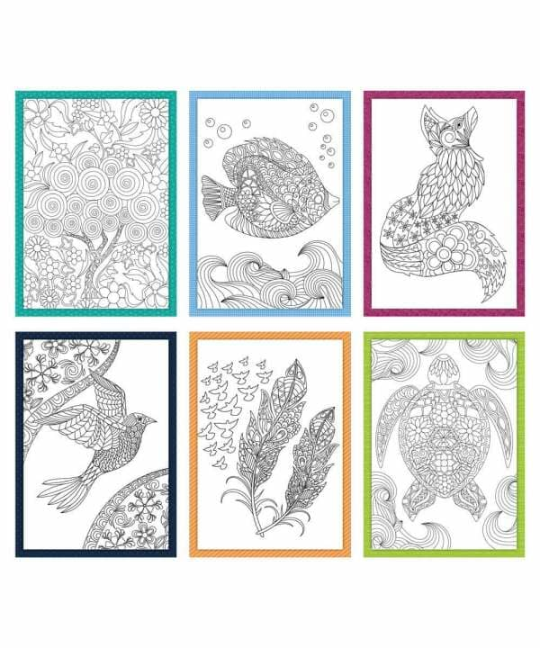 Coloring Creations Greeting Cards - Imagination